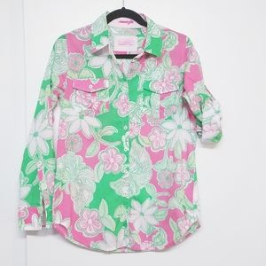 Lilly Pulitzer resort fit button down shirt  XS
